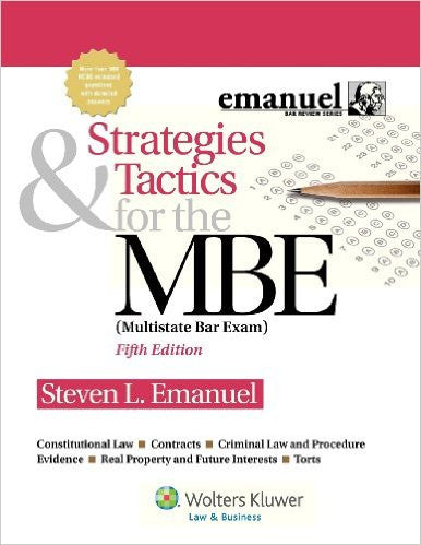9781454809920 | Strategies & Tactics for the MBE, Fifth Edition (Emanuel Bar Review) 5th Edition
