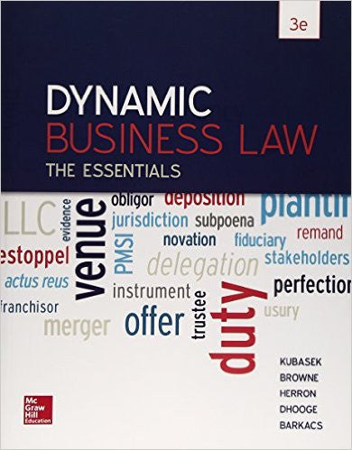 9780078023842 | Dynamic Business Law: The Essentials, 3rd Edition