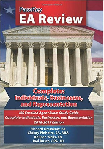 9781935664482 | PassKey EA Review Complete: Individuals, Businesses, and Representation: IRS Enrolled Agent Exam: Study Guide 2016-2017 Edition