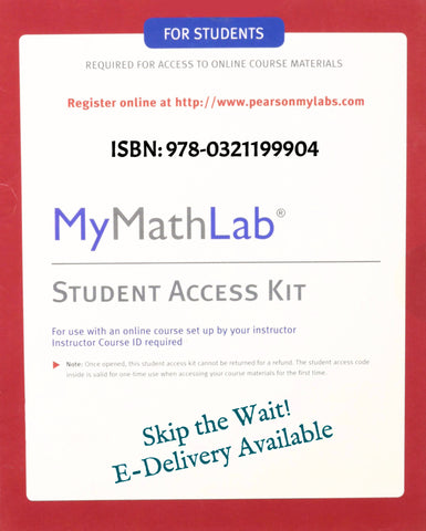 9780321199904 | MyMathLab Student Access Kit ~ Digital Delivery