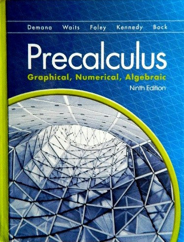 9780133541304 | Precalculus: Graphical, Numerical, Algebraic ~ 9th Edition