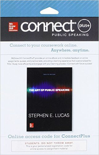 9780077797553 | Connect Access Card for The Art of Public Speaking 12th Edition