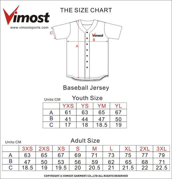The size chart vimost sports