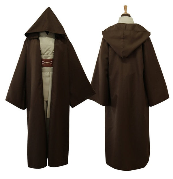 Star Wars Jedi Knight Cosplay Costume Mace Windu Obi Wan Kenobi Anakin Skywalker Cloak Ahsoka Tano Halloween Adult Men