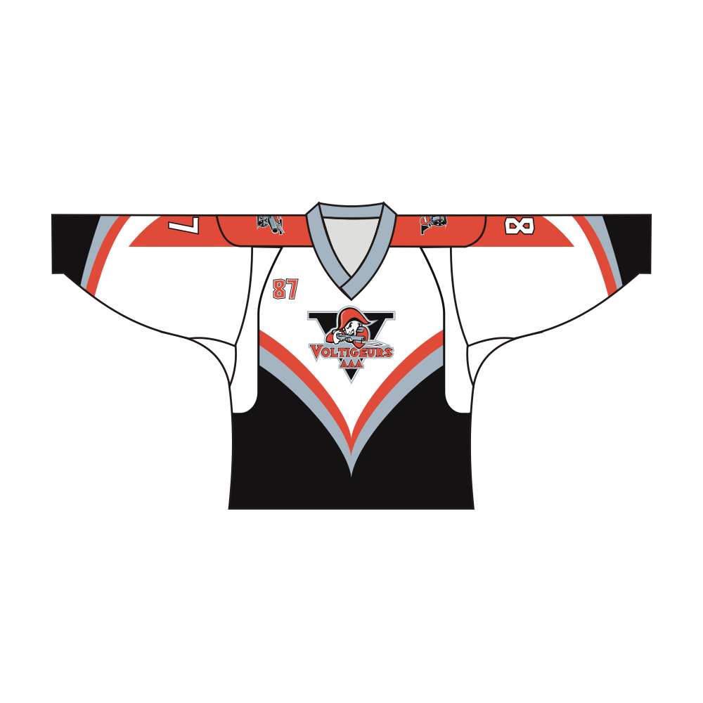 Sublimated VOLTIGEURS AAA Team Design Hockey Shirts
