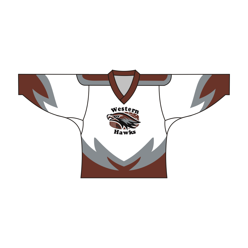 Sublimated WESTERN HAWKS Team Design Hockey Jersey