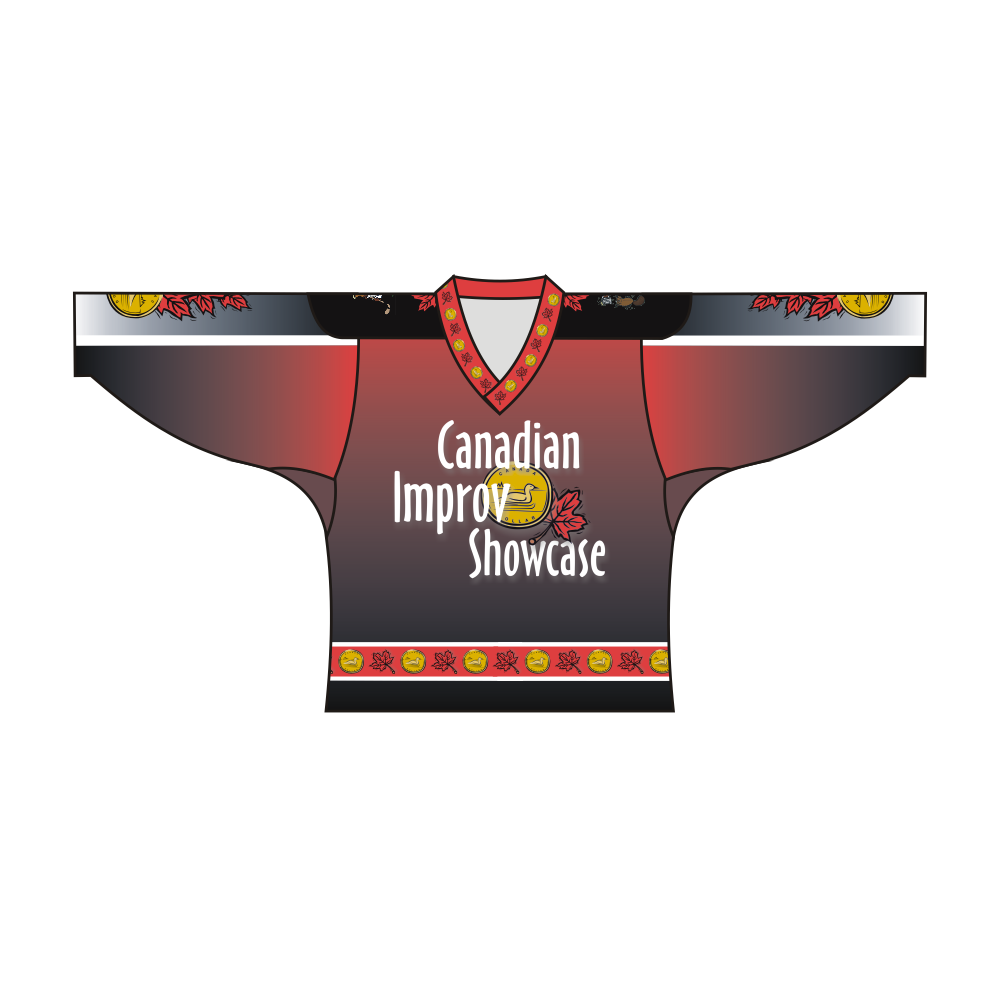 Sublimated Canadian Improv Showcase Team Design Hockey Jersey