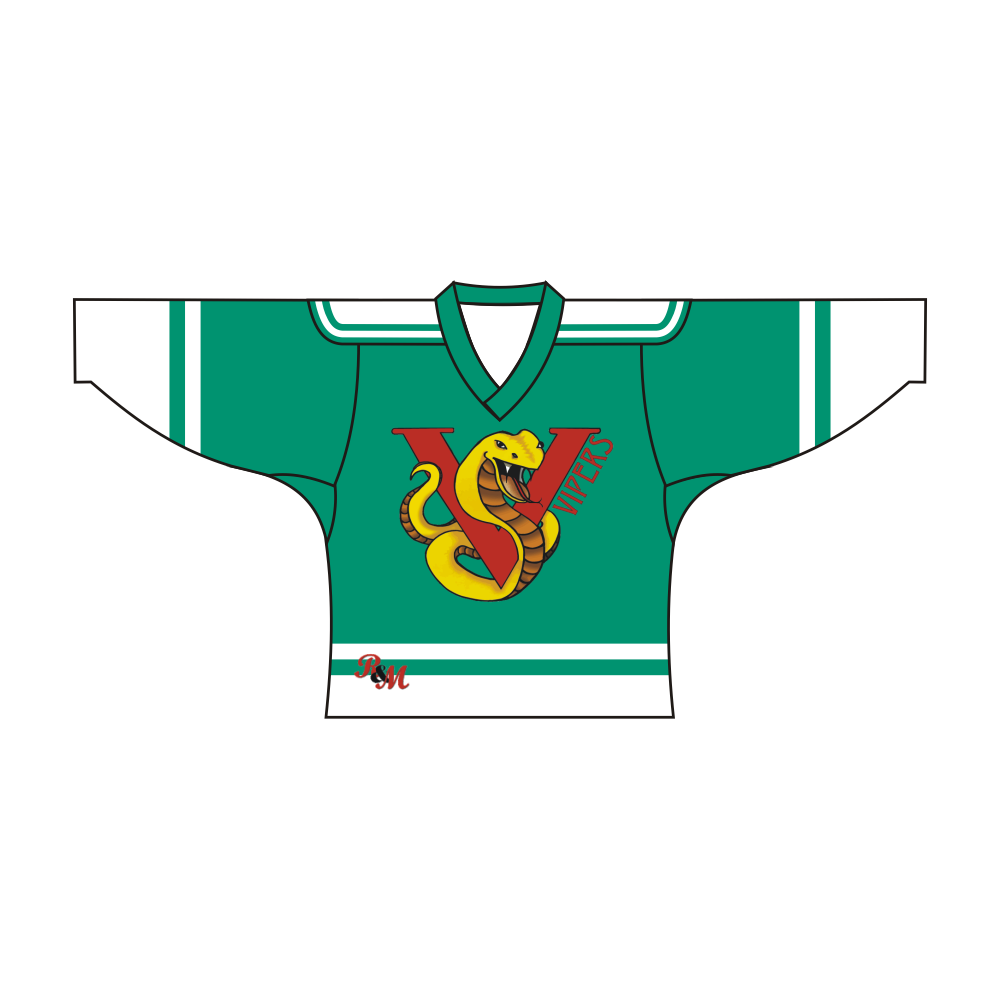 Sublimated Vipers Team Design Hockey Jersey Green