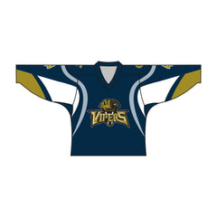 Sublimated Vipers Design Hockey Jersey Blue