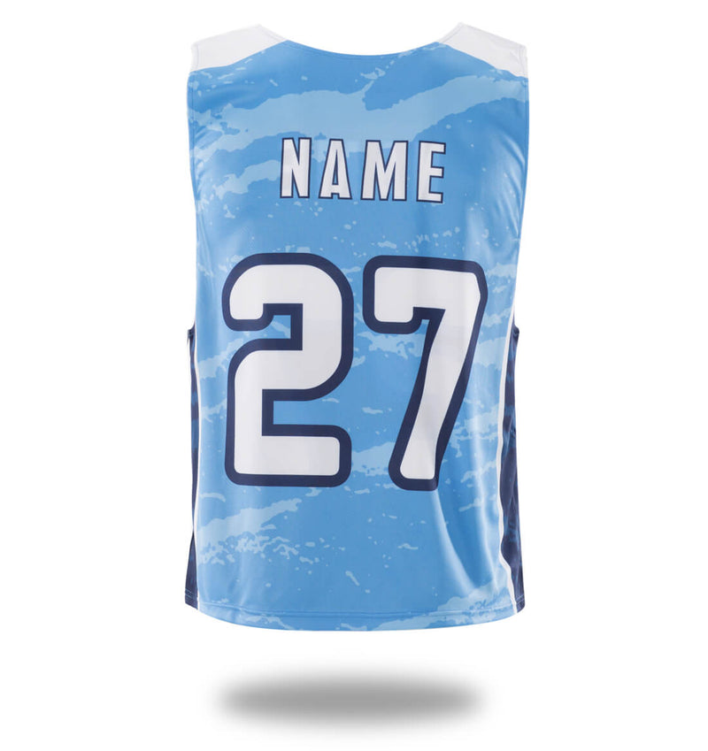 Sublimated Vimost Blue Design Lacrosse Pinnes