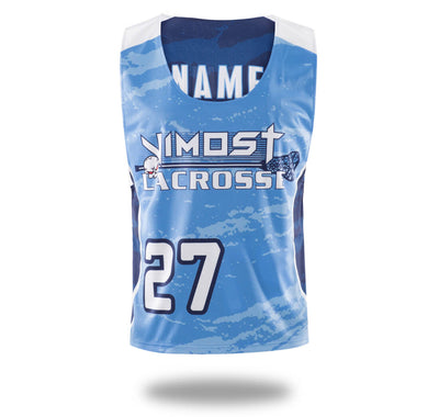 Sublimated Vimost Blue Design Lacrosse Pinnes-Vimost Sports