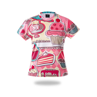Woman Sublimated Cakes Design Tshirts - Vimost Sports