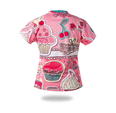 Woman Sublimated Cakes Design Tshirts-Vimost Sports