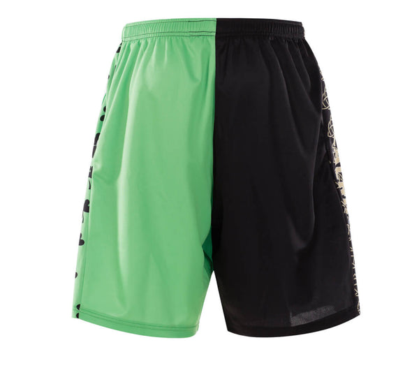 Clover Black Green Design Lacrosse Reversible Pinnes and Shorts-Vimost Sports