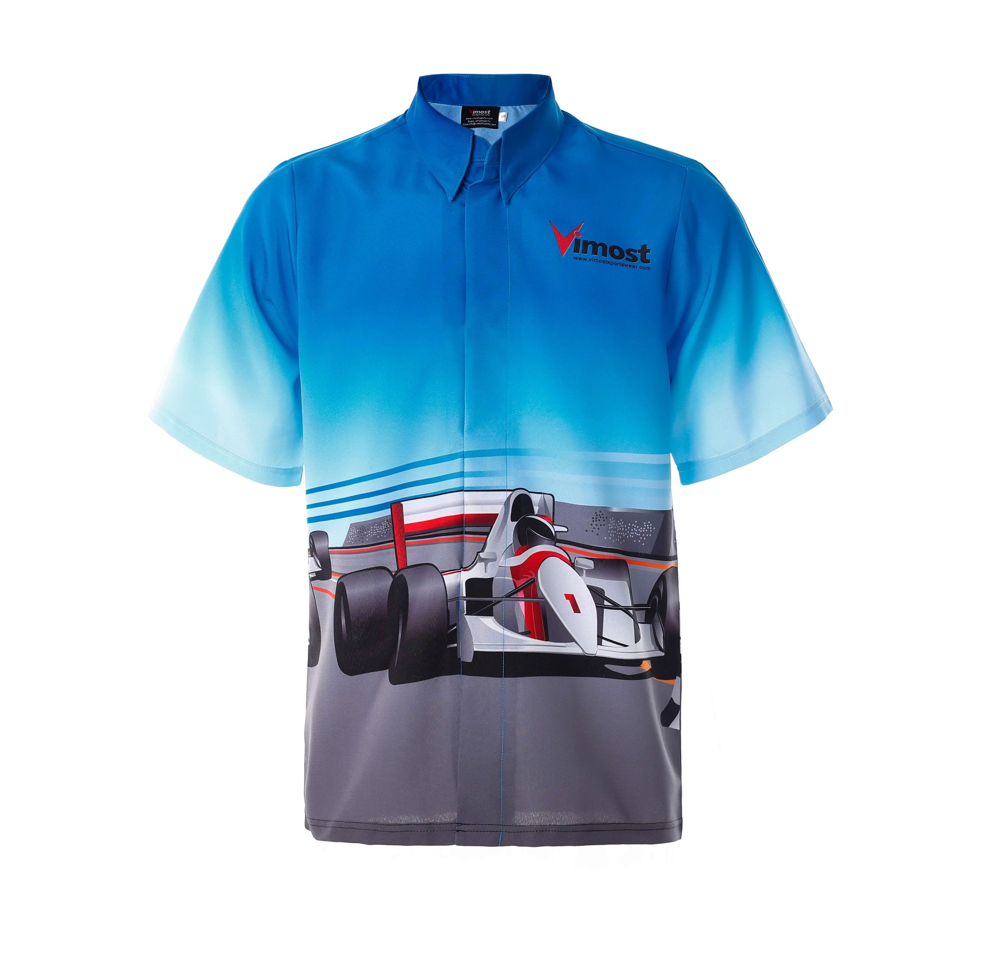 F1 Race Style Design Blue Racing Shirts