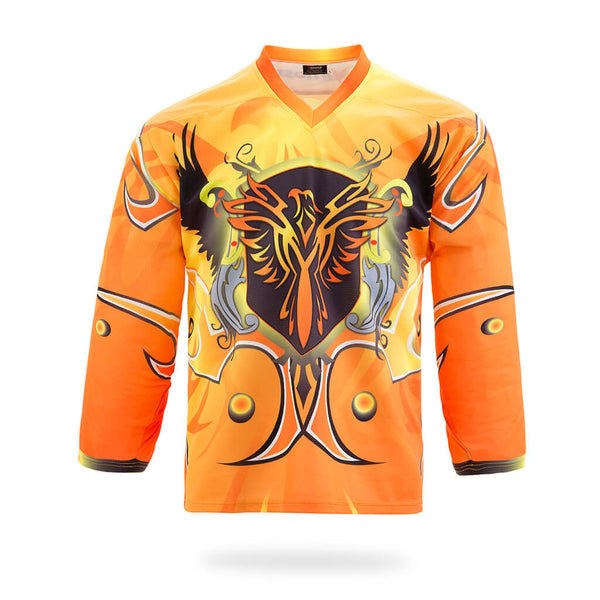 Firebirds Design Yellow Hockey Jersey-Vimost Sports