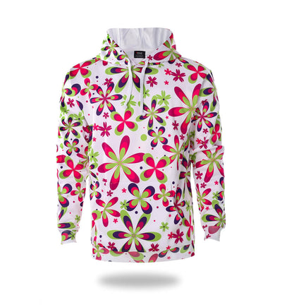 Flowers Design Womans Graphic Hoodies-Vimost Sports