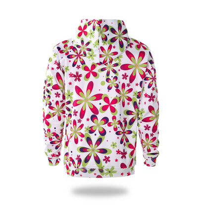 Flowers Design Womans Graphic Hoodies - Vimost Sports