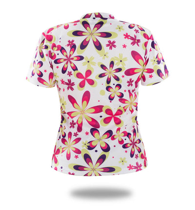 Flowers Woman Short Sleeve T Shirts-Vimost Sports
