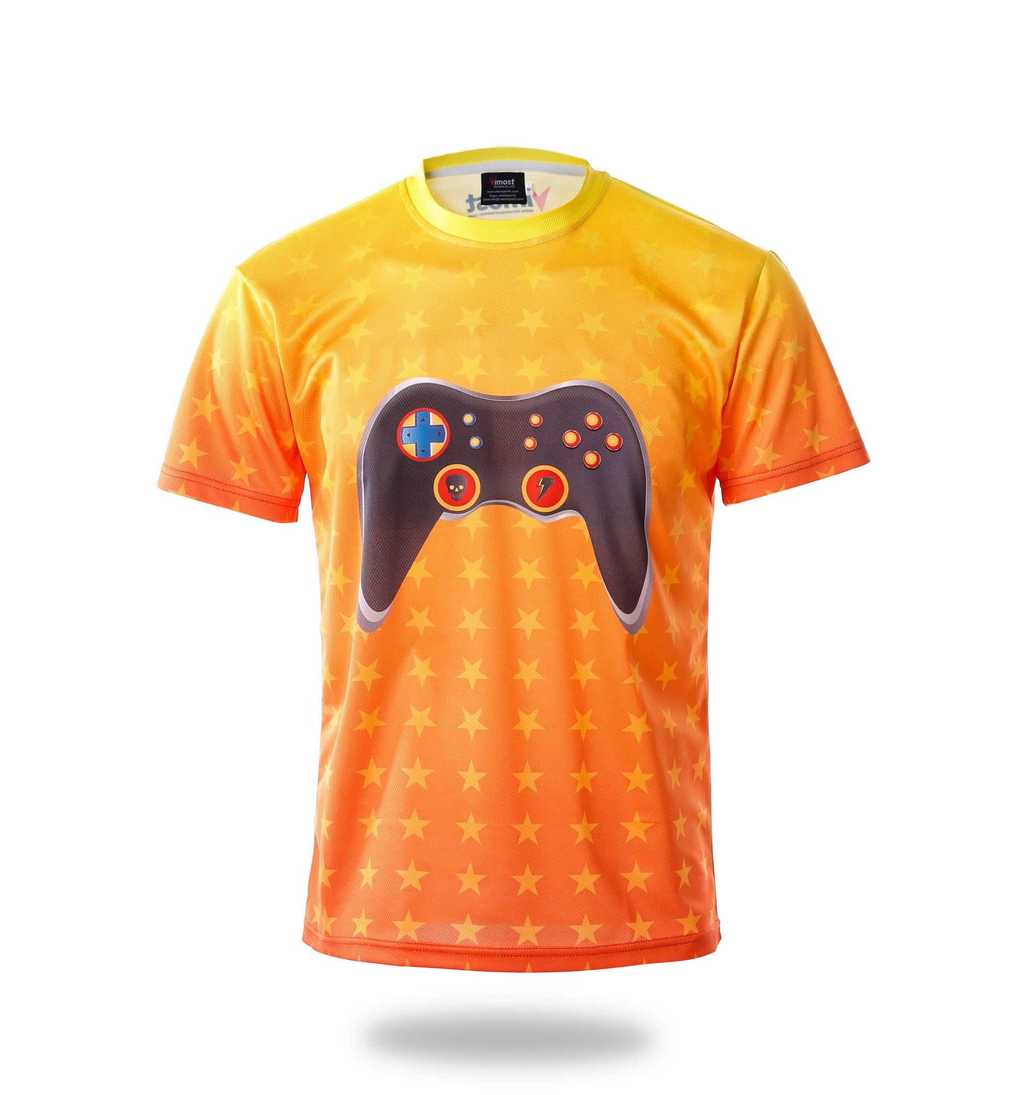 Short Sleeve Gamepad Design Yellow Esports Jersey-Vimost Sports