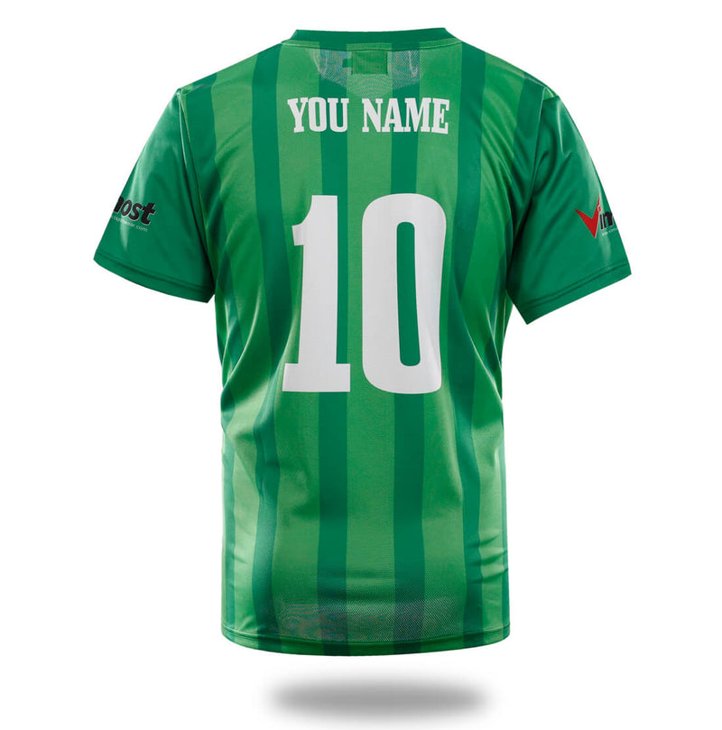 Sublimated Green Design Soccer Jersey
