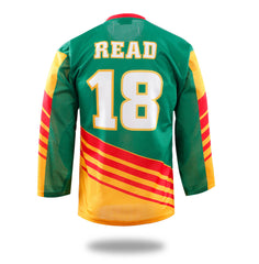 Green Yellow Red Design Hockey Shirts-Vimost Sports