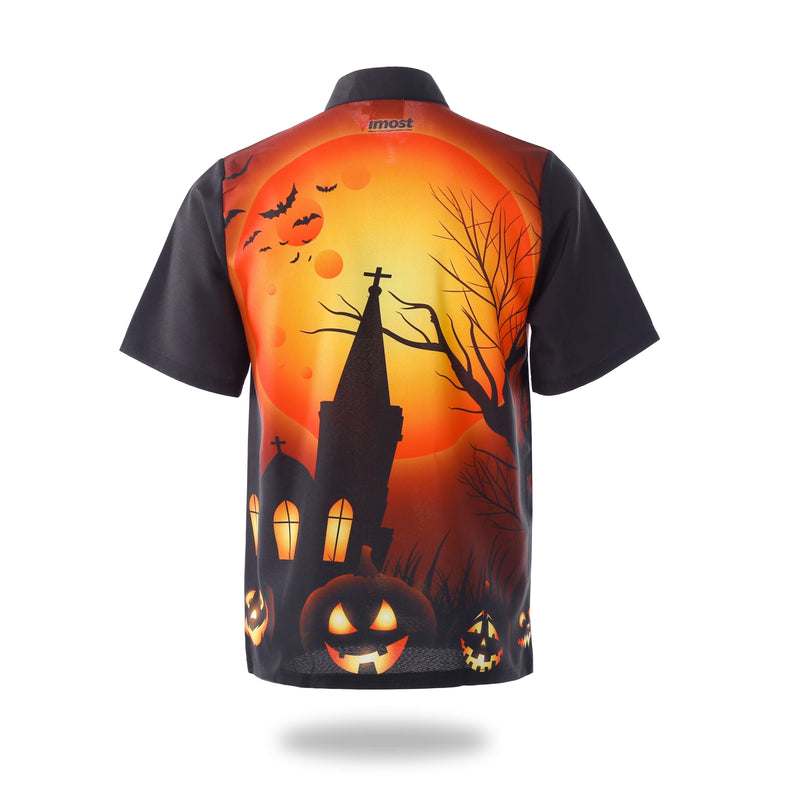 Sublimated Orange Halloween Design Mens Shirts