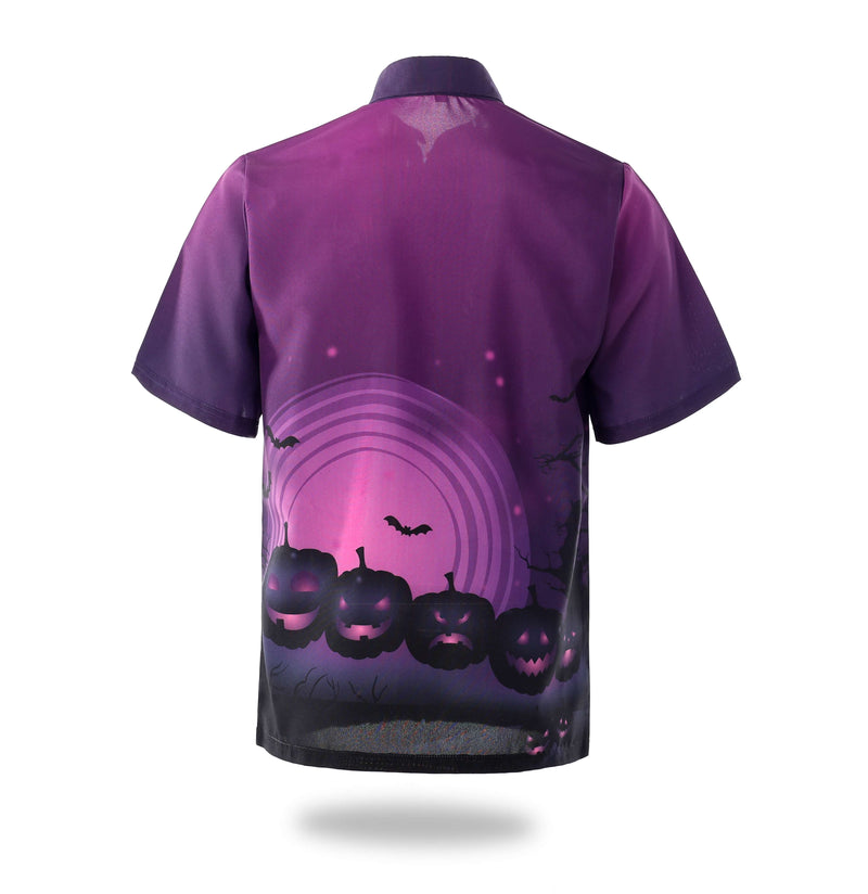 Sublimated Purple Halloween Design Mens Shirts