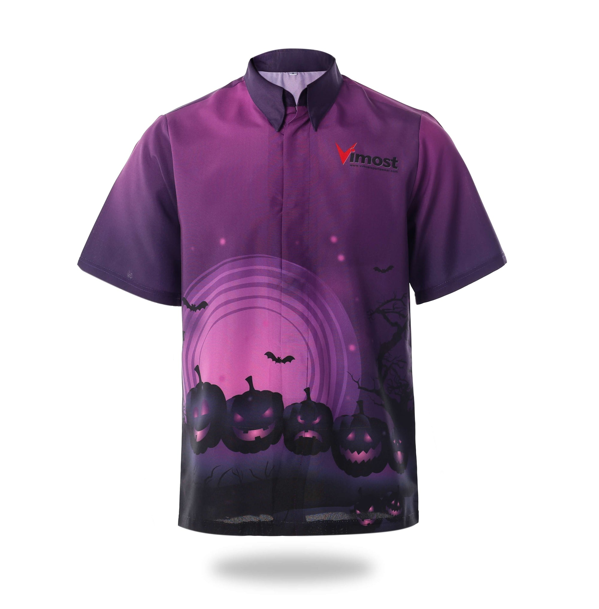 Sublimated Purple Halloween Design Mens Shirts-Vimost Sports