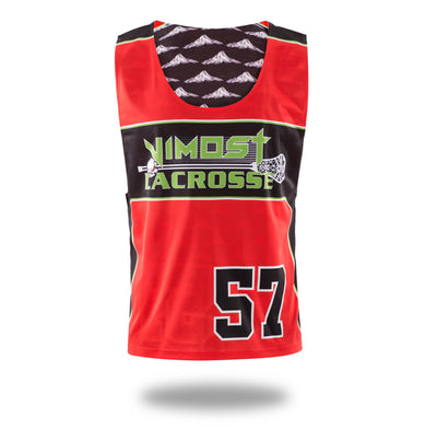Sublimated Red Hills Design Lax pinnes and Shorts-Vimost Sports