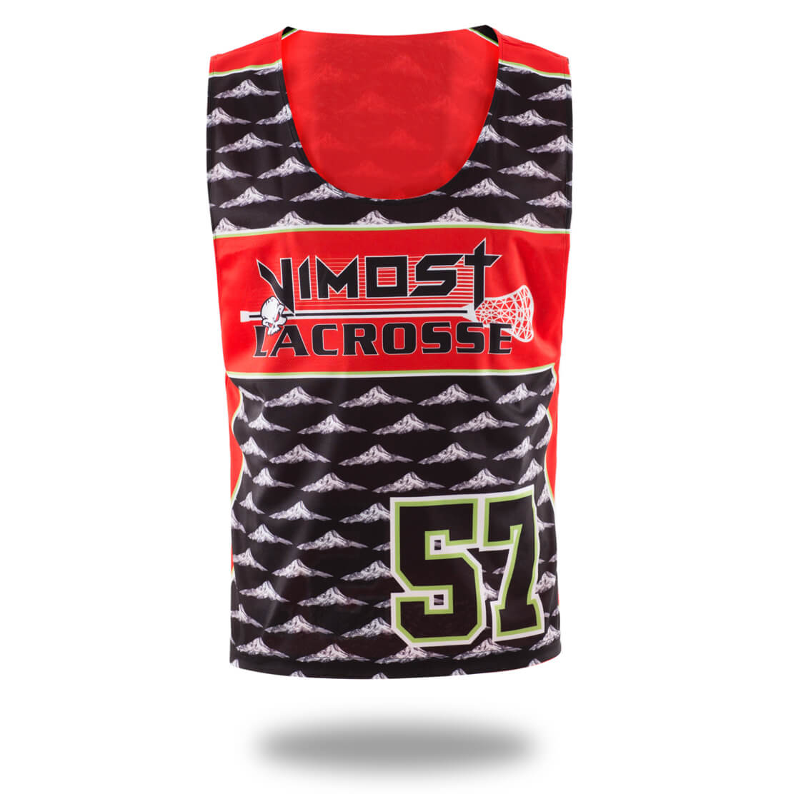 Sublimated Red Hills Design Lax pinnes and Shorts