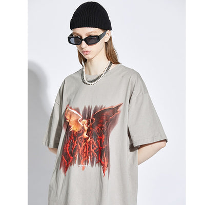 Hip Hop T Shirt Men Dark Streetwear Tshirt Oversize HipHop Harajuku Summer Short Sleeve T-Shirt Cotton Loose Tops Tees New