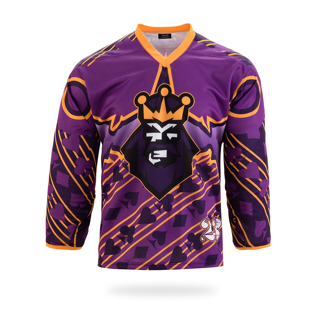 Joke King Design Purple Hockey Shirts-Vimost Sports