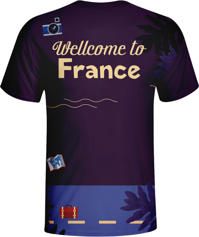 Fashion Design Welocme To France Sublimation Tshirts