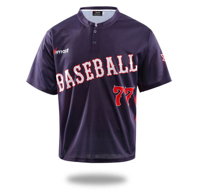 Mens Navy Color Simple Baseball Shirts-Vimost Sports