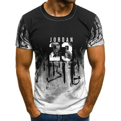 Man's Jordan 23 3D T Shirts Men Camouflage O-neck Fashion Printed 23 Hip-Hop Tee Camisetas Clothing Casual Top