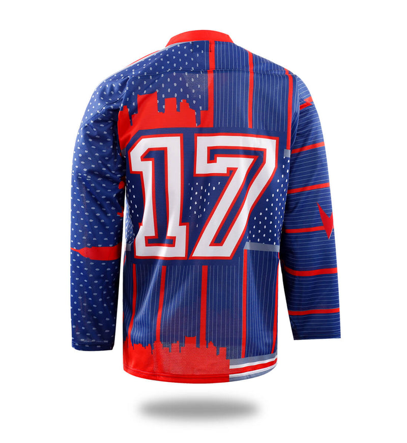 Red New York Design Hockey Jersey