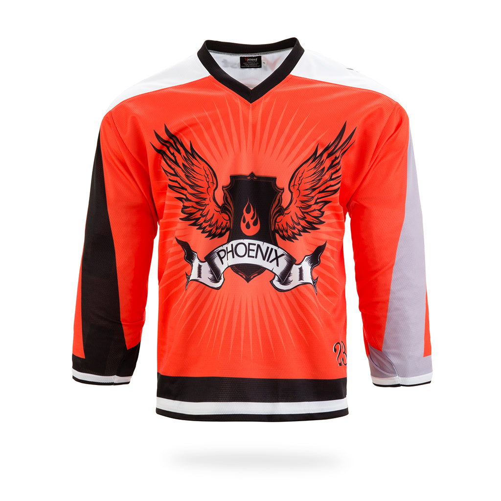 Phoenix Design Orange Ice Hockey Jersey