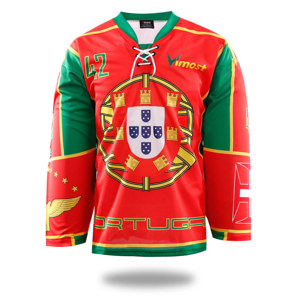 Hot Sale Product Red Portugal Ice Hockey Jersey-Vimost Sports
