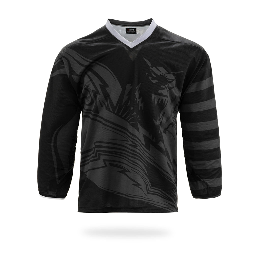 Rampage Design Black ice Hockey Jersey-Vimost Sports
