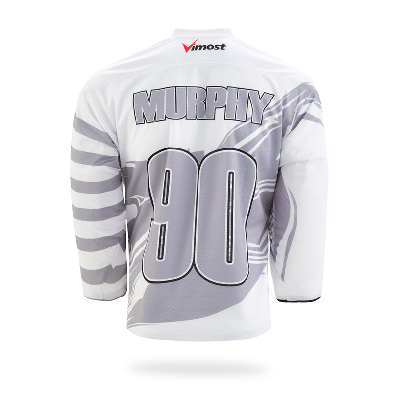 Rampage Design White Ice Hockey Jersey