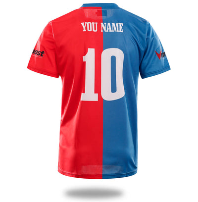Vimost Sports Red Blue Soccer Shirts-Vimost Sports