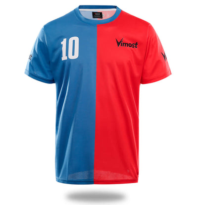 Vimost Sports Red Blue Soccer Shirts - Vimost Sports
