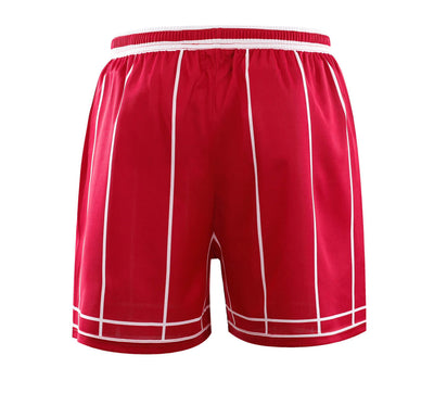 Red Stripes Simple Design Basketball Shirts And Shorts - Vimost Sports