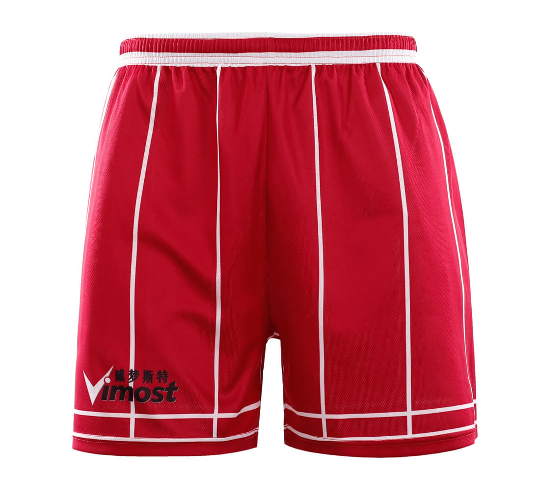 42db9b760 Red Stripes Simple Design Basketball Shirts And Shorts - Vimost Sports