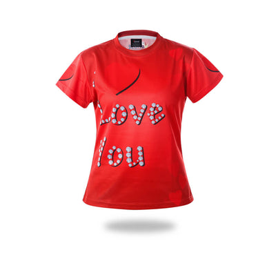 Red I love You Design Tshirts-Vimost Sports