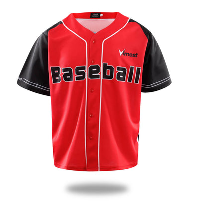 Hot Sales Club Game Red Baseball Shirts-Vimost Sports