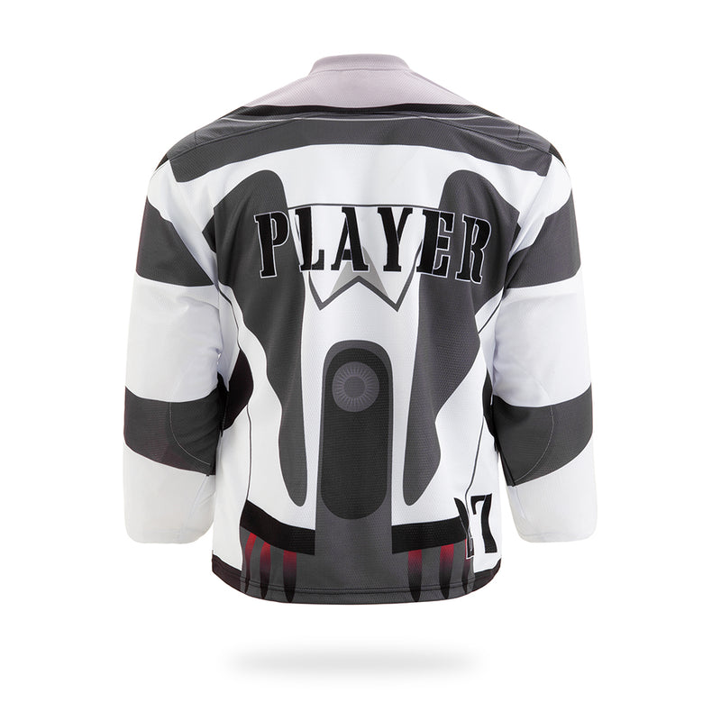 SpaceRangers Design White Hockey Jersey