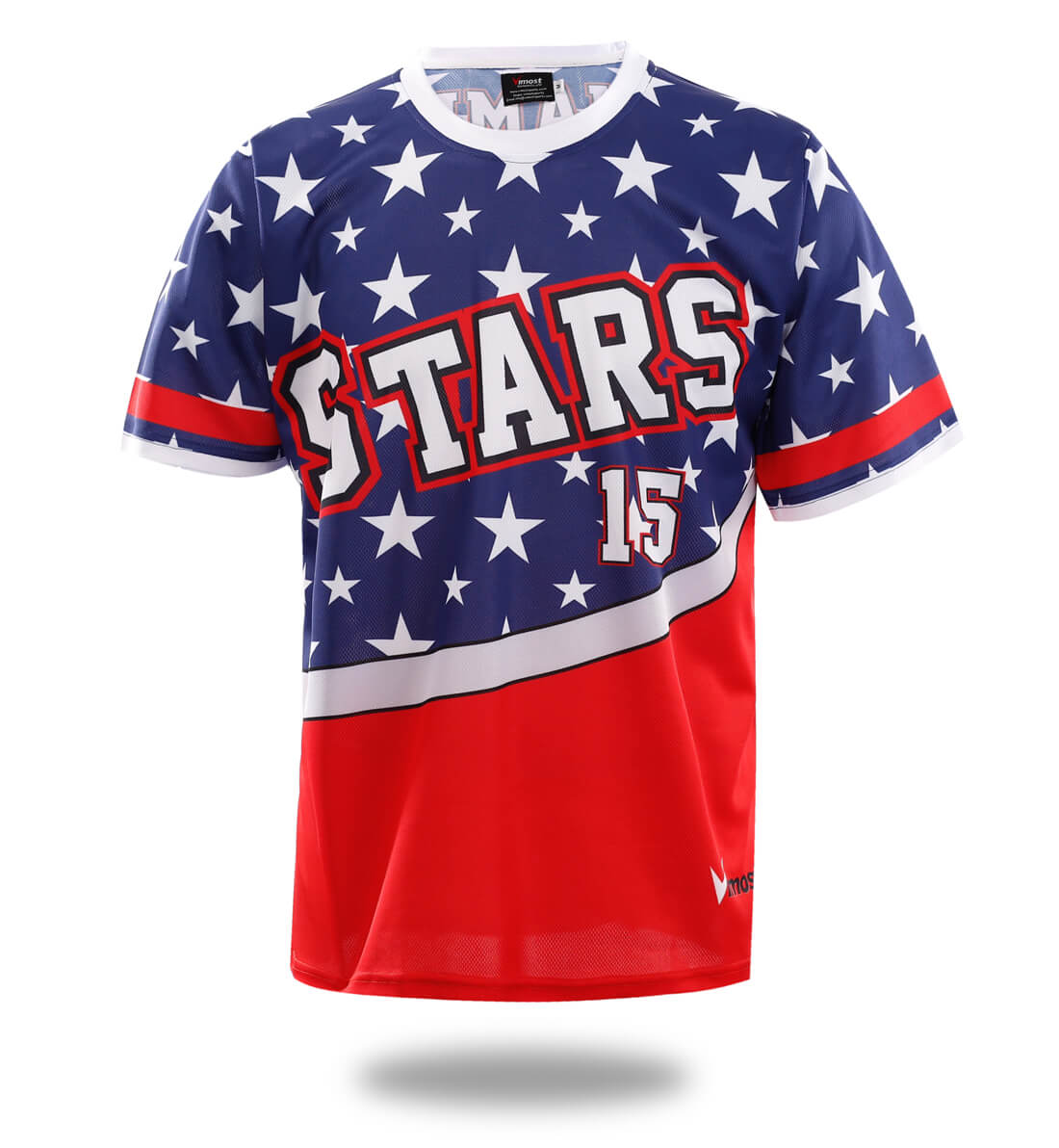 Stars Design Sublimated Baseball Tshirts