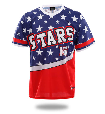 Stars Design Sublimated Baseball Tshirts-Vimost Sports